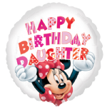 "18"" Minnie Mouse Happy Birthday Daughter Foil Balloon"